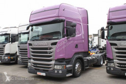 Used exceptional transport tractor unit Scania R 410 Topline Hubsattelkupplung 2xTank ACC LDW