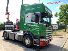 tracteur Scania 124L-420 TOPLINE - MANUAL GRS900 3+3 - A/C - 2 DIESELTANKS - - VERY CLEAN BELGIAN TRUCK