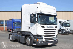 Used low bed tractor unit Scania R 410 Lowline Topline Alcoa etade 2x Tank