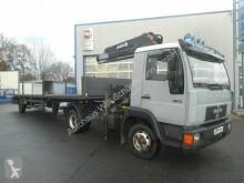 Camión remolque caja abierta usado MAN 9.163 (L2000) / MKG Kran Ackermann Auflieger