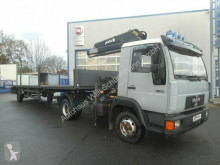 Camião reboque MAN 9.163 (L2000) / MKG Kran Ackermann Auflieger estrado / caixa aberta usado