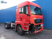 MAN TGS tractor unit damaged hazardous materials / ADR