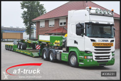 Scania heavy equipment transport trailer truck R 580, Schwelast 130t, + Faymonville complete