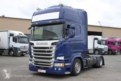 Cap tractor platformă joasă Scania R 450 Topline Standklima LDW ACC 2xTank