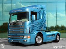 Cabeza tractora Scania 144 530 V8 SVEMPAS SHARK SHOW TRUCK / EINZELSTUCK usada