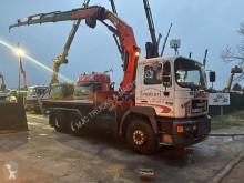 MAN flatbed truck 33.403 + CRANE PALFINGER PK 23080 - 4x + RADIO