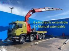 Kamion Scania 144 460 Fassi F900, Retarder, Manual, Remote plošina použitý