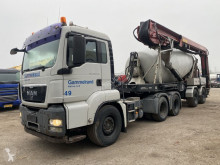 MAN TGS 26.440 tractor-trailer used concrete mixer + pump truck concrete
