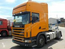Cabeza tractora Scania 114-380-TOPLINE-MANUAL-ORG KM-LUX TRUCK usada