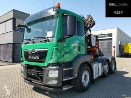 Cabeza tractora MAN TGS TGS 26.440 6X2/4/Kran/Intard./Lenkachse convoy excepcional usada