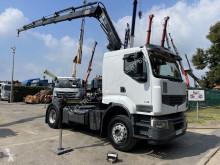 Renault tractor unit Lander 450 + KRAN HIAB 144-5 + RADIO - MANUAL ZF - - VERY NICE CONDITION