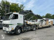 Camión remolque portamáquinas Volvo FH12 FH12 420 Hiab 175 Auflieger