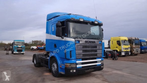 Ver as fotos Tractor Scania 114 - 380 (MANUAL GEARBOX / BOITE MANUELLE / HYDRAULIC)