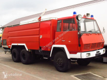 Camion Steyr - 1490 6x6 ROSENBAUER FIRE TRUCK 9000+4000 L TANK *9667km*NEW pompiers occasion