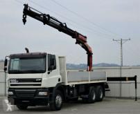 Camión caja abierta DAF CF 85.380 Pritsche 6,60 m + KRAN / 6x4!