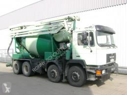 Camion MAN 33.292 8x4 Mischer Stetter 7m³ mit Pumpe Schwing 21m, 6-Zylinder béton toupie / Malaxeur occasion