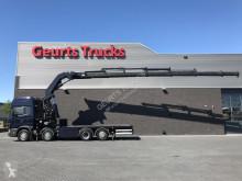 Камион платформа Scania 124 470 kran/kraan/crane/grua