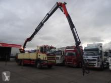 Ciężarówka platforma Scania 124-400 MET PALFINGER PK35000 + FLY JIP REMOTE CONTROL EN 5 EN 6E FUNCTIE