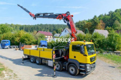Camión MAN grue fassi 80tm jib treuil caja abierta estándar usado