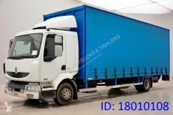 Lastbil Renault Midlum 220 DCI skjutbara ridåer (flexibla skjutbara sidoväggar) begagnad