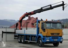 Ciężarówka platforma Iveco Trakker 380 * Pritsche 7,20m + KRAN * 6x4