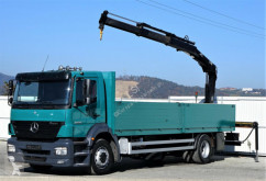 Camion plateau occasion Mercedes Axor 1828 Pritsche 7,40 m + KRAN