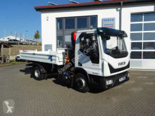 Iveco three-way side tipper truck Eurocargo ML80E22 Kipper + Kran Fassi F40 +Funk