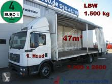 ciężarówka MAN TGL 12.180 Schiebeplane 7.30m lang 47m³ LBW1.5t.