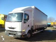 Lastbil Renault Midlum 210 skjutbara ridåer (flexibla skjutbara sidoväggar) begagnad