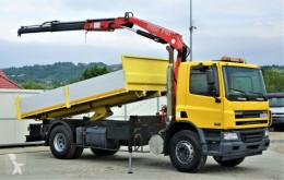 Camión caja abierta usado DAF CF 75.310 * Kipper 5,20 m + KRAN