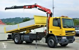 DAF CF 75.310 * Kipper 5,20 m + KRAN truck used flatbed