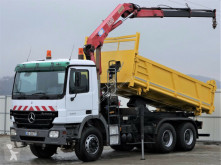 Mercedes flatbed truck Actros 3332 Kipper 5,20m Bordmatic+KRAN !