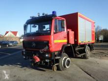 Camión Camion Mercedes 1124AF 4x4 ZW Feuerwehr Zweiwege Schienenverkehr