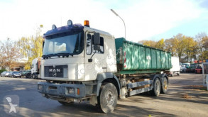 Lastbil MAN 27.403 6x4 Abroller/Kipper Mulde flak begagnad