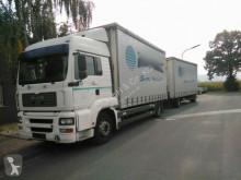 Camião estrado / caixa aberta caixa aberta MAN TGA18.360PS mit Kran Hab XS 122 mit Funk Euro:4