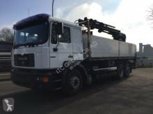 Camión MAN 26.414 6x2 Pritsche +Kran Hab 185K+Zange caja abierta teleros usado