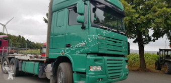 Camion transport buşteni second-hand DAF XF105-460Super Spacs Cap G.Haus/Hoch Retarder