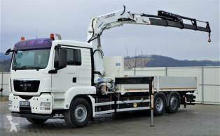 MAN TGS 26.440 Pritsche 6,20 m+Kran/FUNK*Topzustand! truck used flatbed