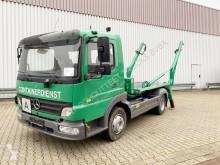 Kamión vozidlo s hákovým nosičom kontajnerov Mercedes Atego 815 K 4x2 815 K 4x2, Meiller Teleabsetzer, E4