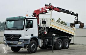 Camion plateau Mercedes Actros 3336 Kipper 4,60m+Kran/FUNK Topzustand!