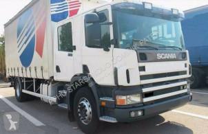 Ciężarówka Plandeka używana Scania 94 D 300 DOKA 6 sitz DOPPEL KABINE