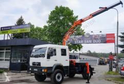 Camião MAN 18.224 4x4 DoKa ATLAS 85.1 Kran estrado / caixa aberta usado