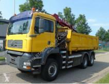 Ciężarówka wywrotka MAN 26.360 6x6 HMF 1560 EURO 3 Kran Kipper