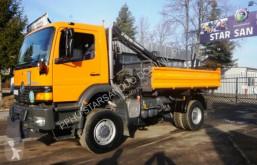 Ciężarówka platforma Mercedes 1823 4x4 HIAB 065 Kran Cran Kipper Pflug