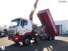 Camion Hino FY1EUKA tipper RHD + Palfinger E120L + grapple benne occasion