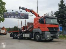 Vrachtwagen Mercedes AXOR 2536 6x2 PALFINGER PK 15500 EURO Kran Cran tweedehands platte bak boorden