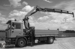 MAN 18.414 with Palfinger crane truck used tipper