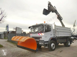 Mercedes Atego 1529 4x4 1529 4x4, Kran Hiab 077, Winterdienst used snow plough-salt spreader