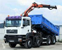 camion MAN Tga 35.390 Kipper 5,20m+Kran/FUNK 8x4!