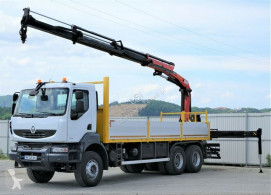 Camión caja abierta Renault Kerax 370 DXI* Pritsche 6,70m+Kran*6x4Topzustand